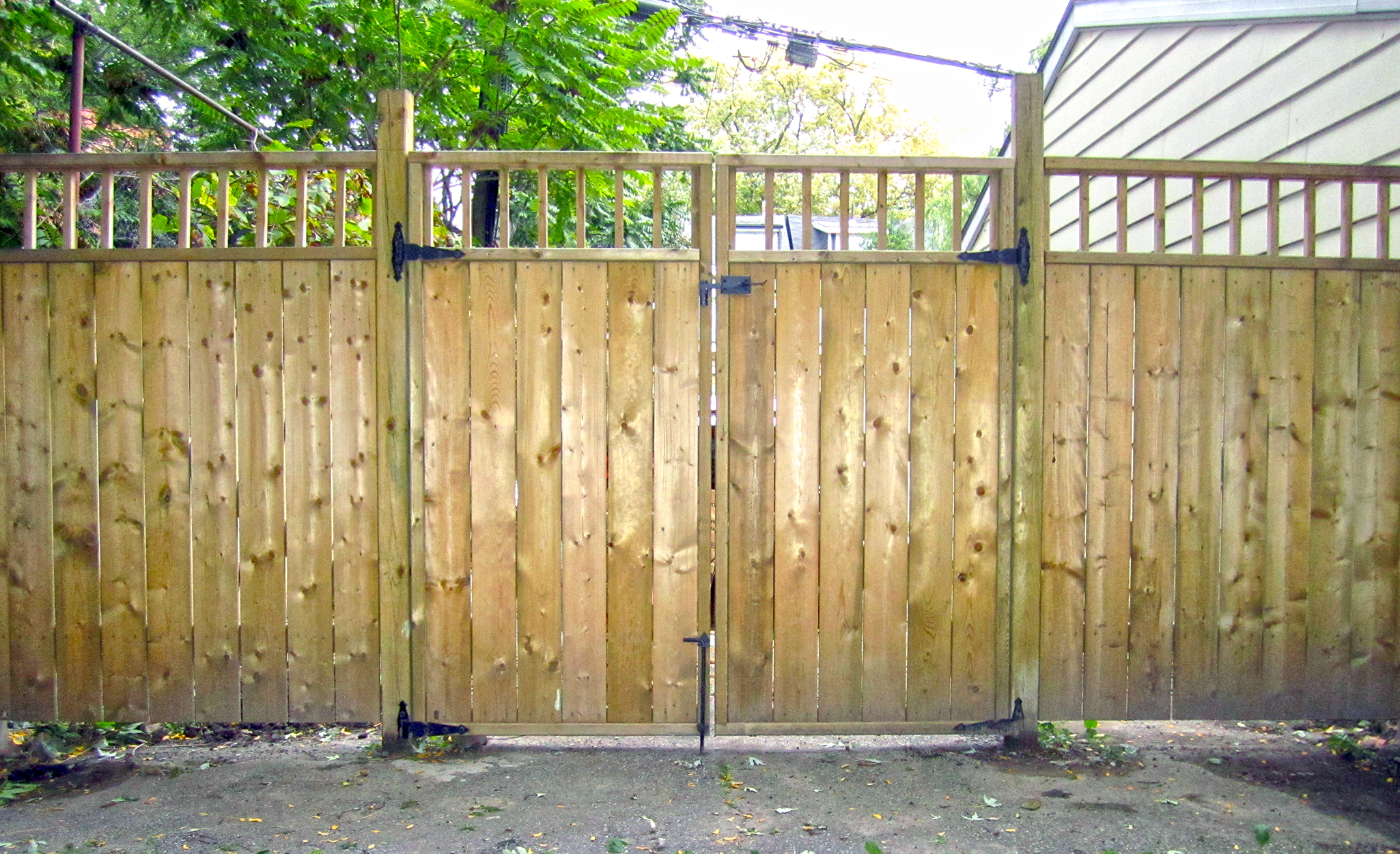 how to build a 10 foot double gate