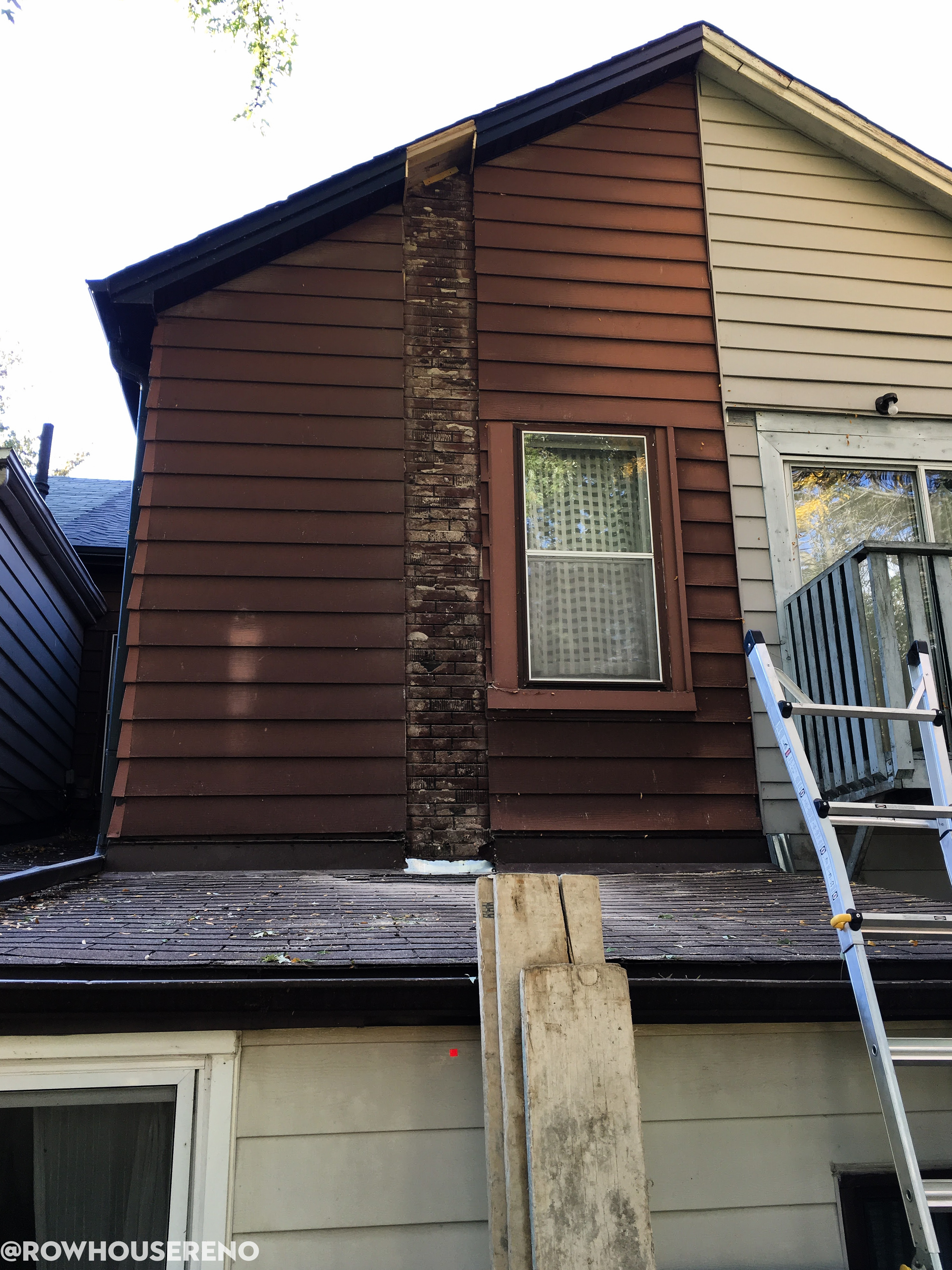 Removing An Old Chimney Row House Reno